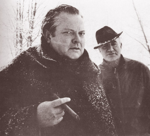 Orson Welles and Peter Viertel