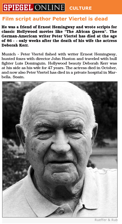 Peter Viertel Obituary